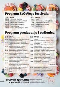 Program ZeGeVege 2018.