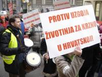 Protest against fur farming, Zagreb 2006