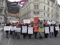 Fur demo in Slovenia