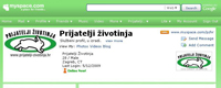 Myspace profile for Animal Friends Croatia