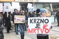 Demo against fur in Osijek [ 91.53 Kb ]