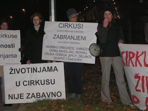 Protest against Gaertner in Slavonski Brod 1