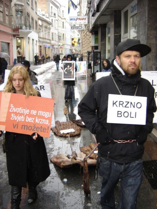 Anti-fur demo in Sarajevo 1 [ 145.02 Kb ]