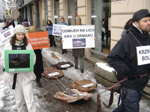 Anti-fur demo in Sarajevo 6 [ 127.15 Kb ]