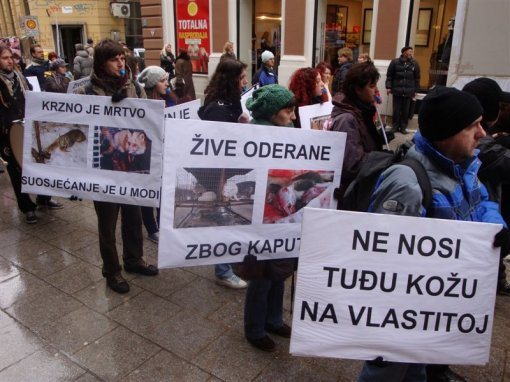 Demo against fur in Sarajevo 1 [ 114.38 Kb ]