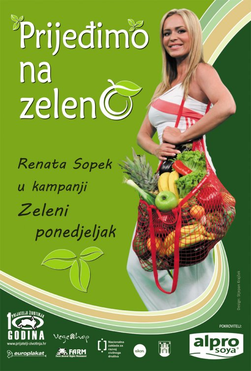 "Renata Sopek in campaign  ""Green monday"""