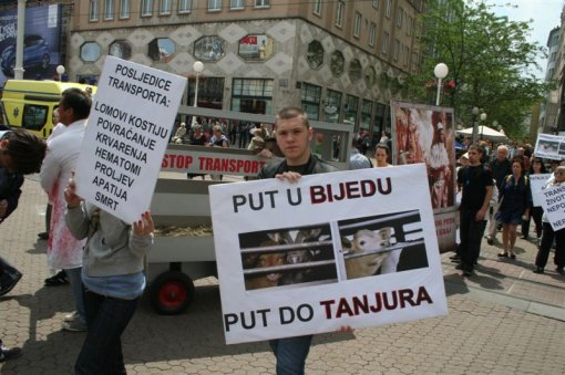 Demo against animal transport, Zagreb 2012 [ 105.20 Kb ]