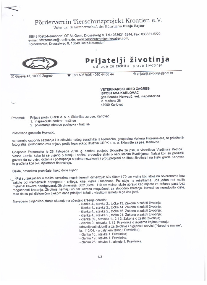 Charges Against The CRPK Company From 2011